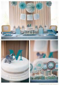 swanky baby elephant makes a baby shower theme