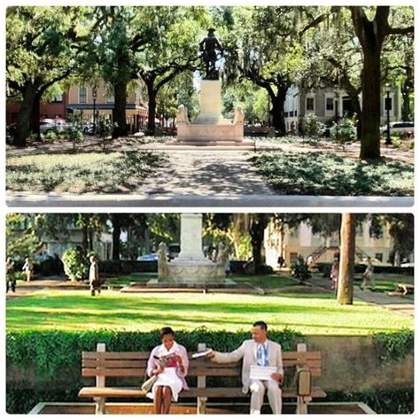 savannah ga forrest gump bench forrest gump s bench was located here at chippewa square