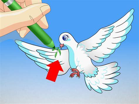 cara menggambar burung merpati wikihow