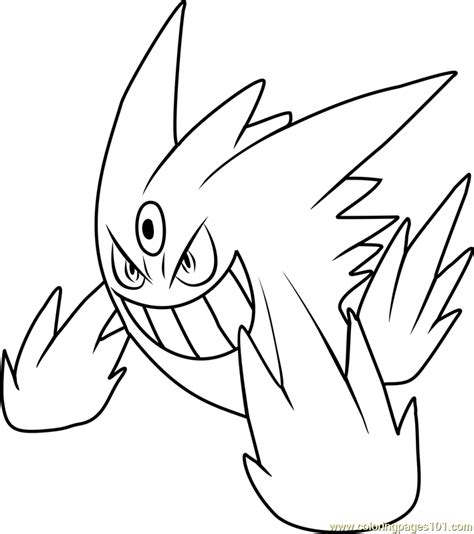 pokemon coloring pages gengar mega gengar pokemon coloring page free pok 233 mon coloring