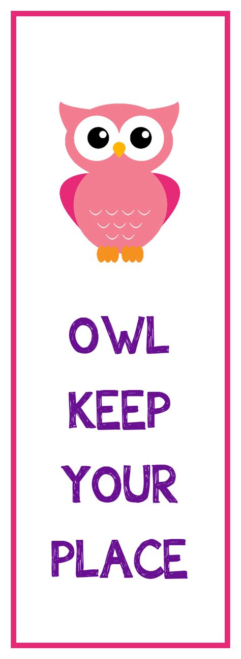 libro can you keep a owl bookmark printable