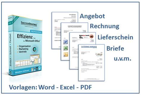 Angebot Vorlage In Excel word vorlage rechnung angebot lieferschein und briefe
