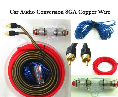 car audio power wire car audio wire subwoofer speaker installation kit 8ga