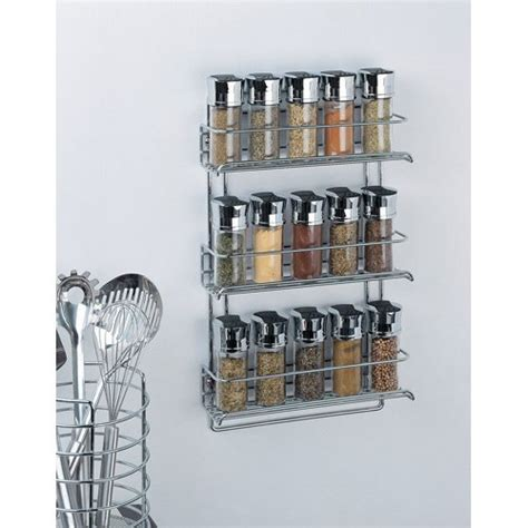Wall Mounted Spice Shelf by Organize It All 3 Tier Wall Mounted Spice Rack Only 10 49