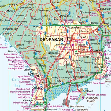 printable road map of bali map of bali bali map asian maps asia maps bali map