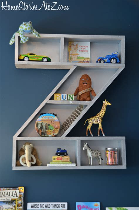 white letter z shelf diy projects