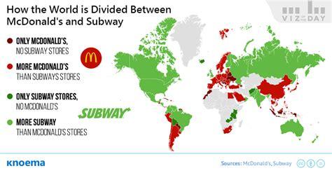 Factors Of 481 mcdonald s vs subway which has the bigger restaurant