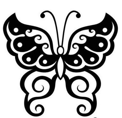 tribal tattoo outline variation of tatto tribal butterfly