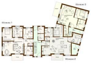 Bauplan Zeichnen mehrfamilienhaus grundriss modern