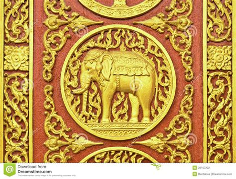 thai pattern history thai pattern sculpt by wood stock photo image 36167202