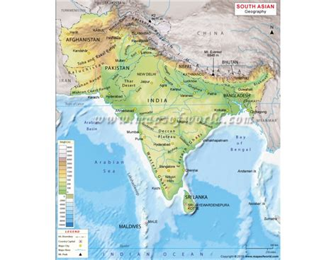 geographical map of south asia buy south asia geography map