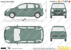 Nissan Note Dimensions The Blueprints Vector Drawing Nissan Note