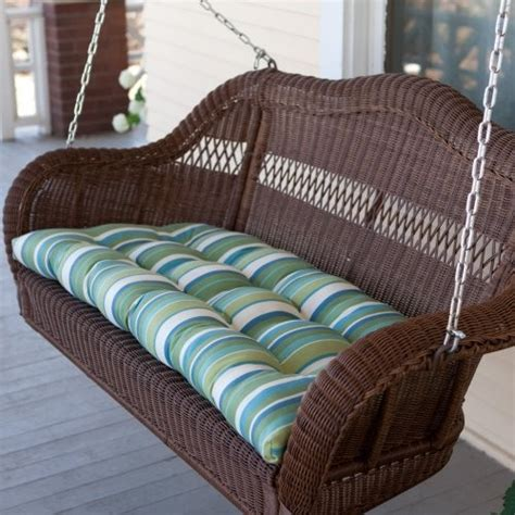 wicker porch swing cushions coral coast casco bay resin wicker porch swing with