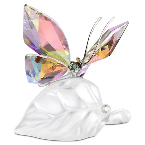 Bonvivo Designer Desk Massimo by Swarovski Sparkling Butterfly On Leaf