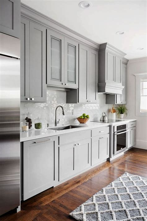 kitchen with gray cabinets best 25 gray kitchen cabinets ideas only on pinterest