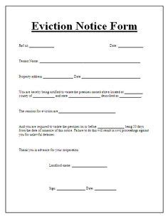 sle eviction notice letter florida blank eviction notice form free word templates tenant
