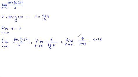 lim x tende a 0 calcolare il lim arctg x x per x 0