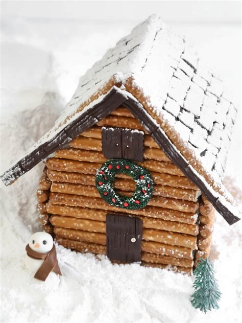 log cabin gingerbread house designs three easy gingerbread houses hgtv