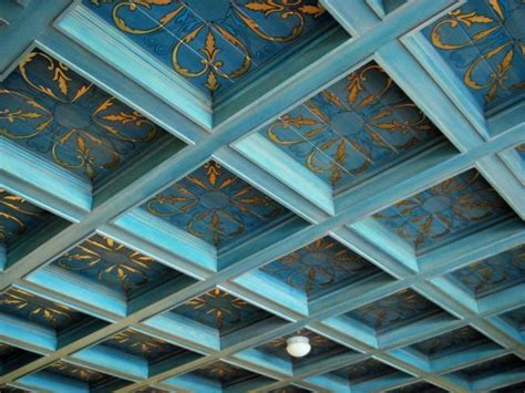 coffered ceiling paint ideas add personality to your interior with a coffered ceiling