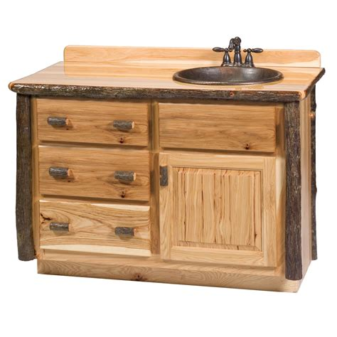 Hickory Vanity by Hickory 60 Quot Right Side Vanity With Top From Fireside Lodge