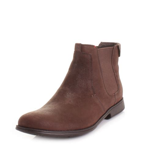 mens cer 1913 grunge kenia brown suede leather ankle