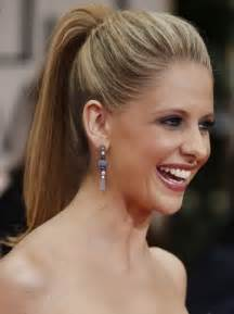 high ponytail hairstyles stylish