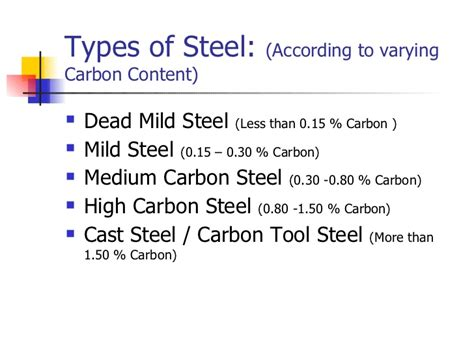 types steel structural steel