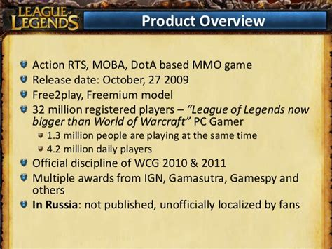 Legend Of Business Strategies Vol 2 league of legends marketing strategy for russia