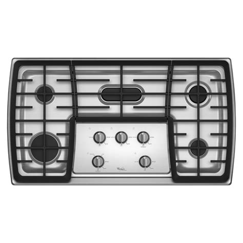 36 electric cooktops whirlpool gold g7cg3665xs 36 quot gas cooktop sears outlet