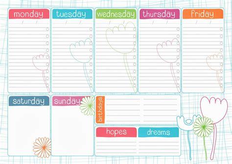pretty printable weekly planner pikadoodles freebie weekly planner