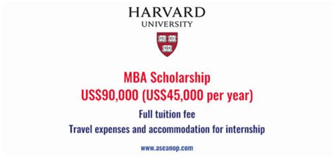 Mba Scholarship 2017 by Harvard Asean Opportunities