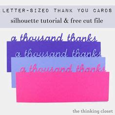 silhouette thank you card template svg files downloads on cutting files
