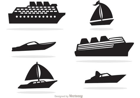 fast boat icon ship and boat black icons vector download free vector