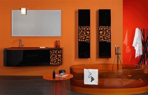 orange bathroom decorating ideas modern house orange bathroom in modern designs