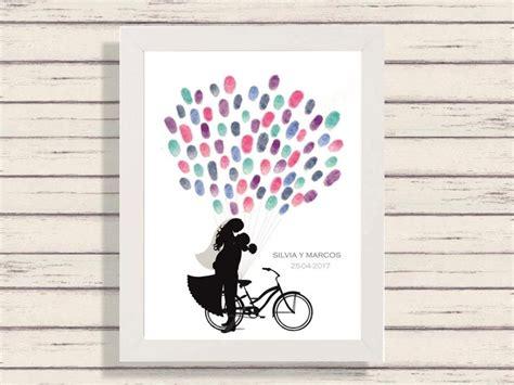 cuadros de bici cuadro boda bici novios cuadro firmas boda arbol