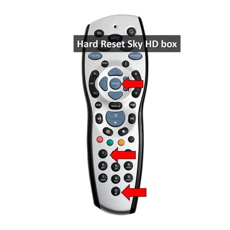 reset samsung remote hard reset sky hd box system reset using remote control