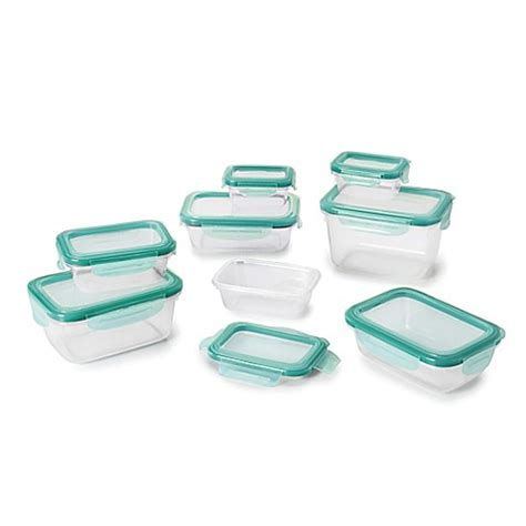 bed bath and beyond containers oxo good grips 174 16 piece snap snap plastic container set