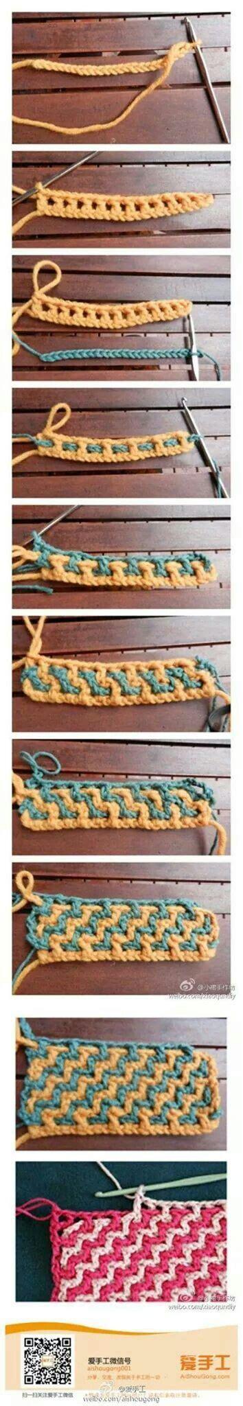 interlocking crochet zig zag pattern 17 best images about interlocking crochet on pinterest