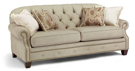 sofa mart st george utah flexsteel chion transitional button tufted sofa with