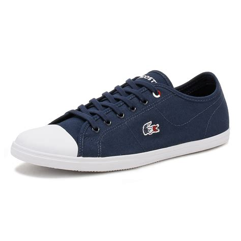 Lacoste Casual Navy lacoste womens trainers navy or white ziane 317 1