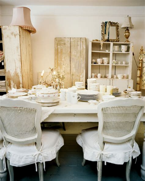 white shabby chic dining chairs shabby chic dining room photos 8 of 9 lonny