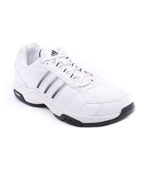 white leather sports shoes adidas white synthetic leather sport shoes price in india