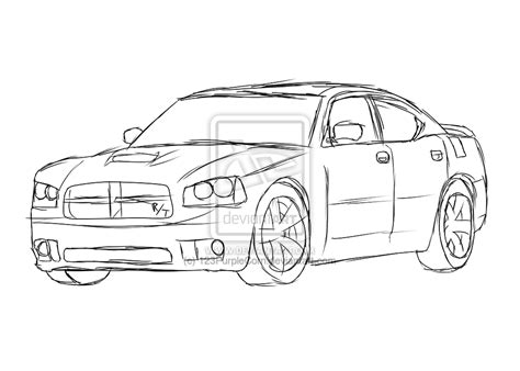 dodge charger free coloring pages