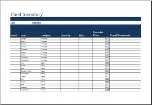 Food Inventory List Template ms excel printable food inventory list template excel