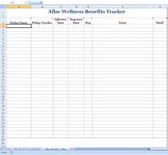 benefits tracking template tracking wellness benefits of aflac insurance