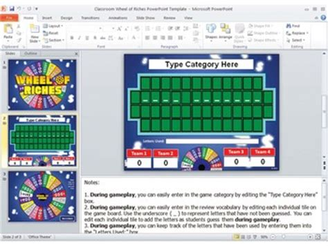 wheel of fortune template for powerpoint free wheel of riches powerpoint by best resources