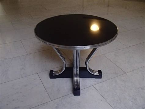 bauhaus coffee table bauhaus coffee table chrome and black for sale at