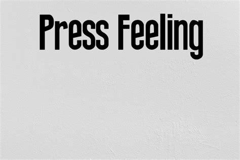 press feeling font ffontsnet