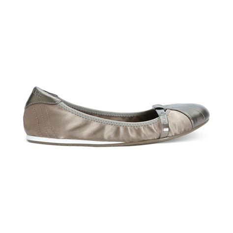 calvin klein shoes flats calvin klein womens kyrie flats in metallic lyst