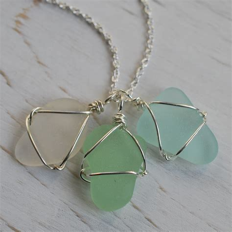 sea glass jewelry best sea glass necklace photos 2017 blue maize